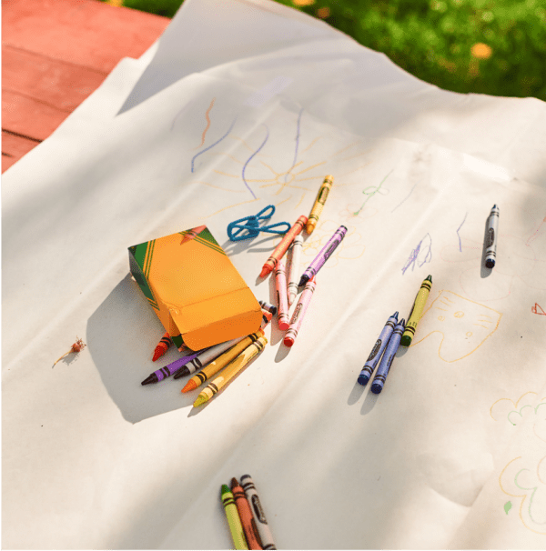 Make your picnic table an impromptu piece of art