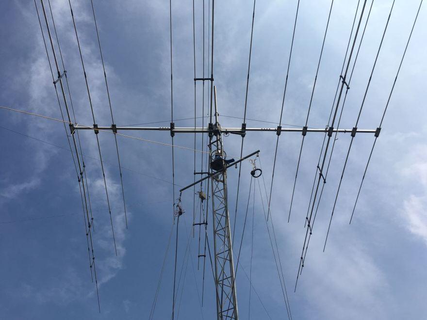 The main antenna at the station - Optibeam 11-5