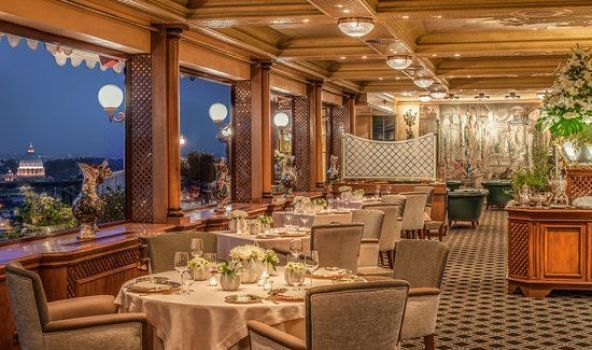 Restaurantes románticos en Roma: La Pergola