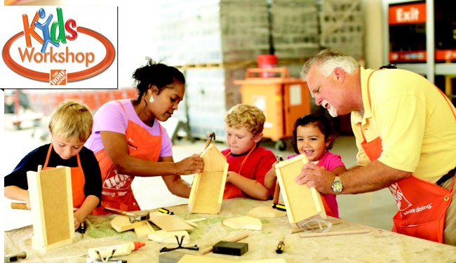 Gratis: Caja para Guardar Lápices en Home Depot Kids Workshop