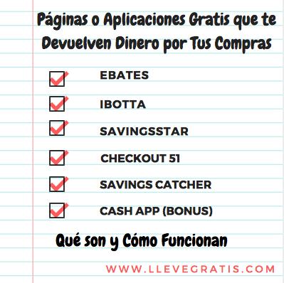 Páginas O Aplicaciones Que Te Devuelven Dinero Por Tus Compras Lleve Gratis