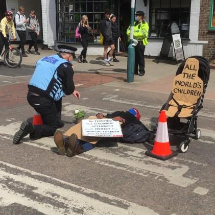 Sue Hampton Quaker climate change protester
