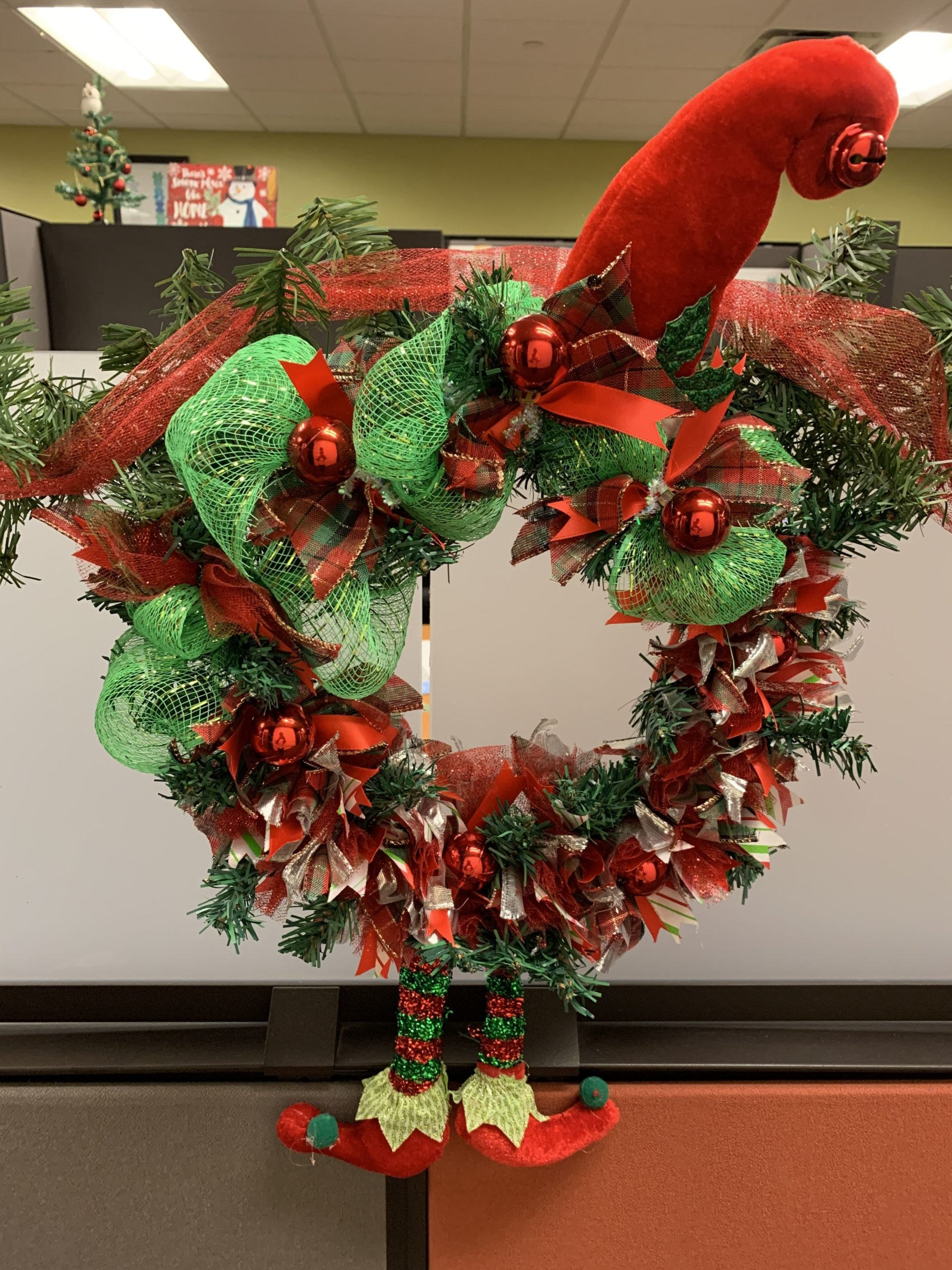 Elf Wreath, dollar tree
