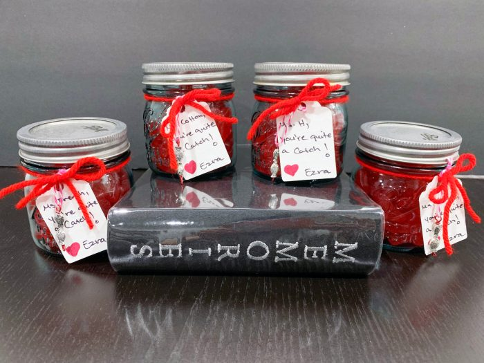 Maison Jar Sweetish Fish Valentines, teachers gifts