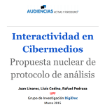 Interactividad en Cibermedios: propuesta nuclear de Protocolo de Análisis