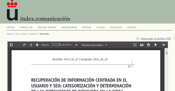 index comunicacion