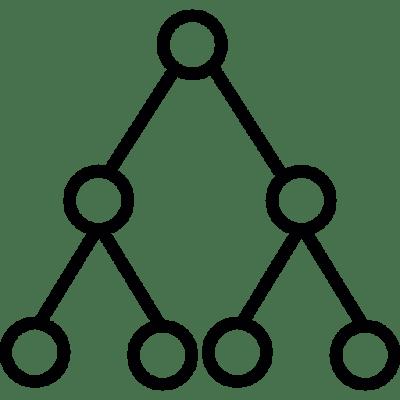 Diagrama que representa una clasificación jerárquica, para inlustrar la idea de las taxonomías