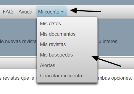 Opciones de una cuenta
