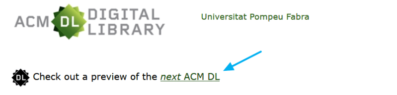 Acceso a la versión beta de la ACM DL