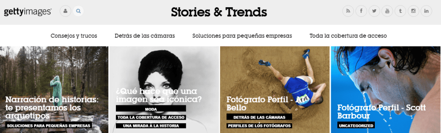 Sitio web Stories & Trends