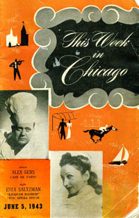 Playbill from Chicago