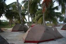 our tents--tobacco range, belize