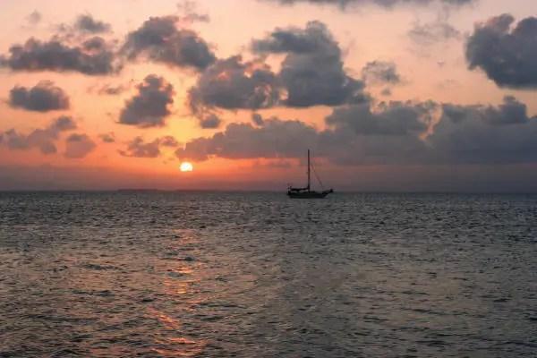 Sunset Belize-style