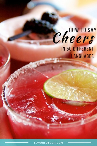 How to say Cheers
