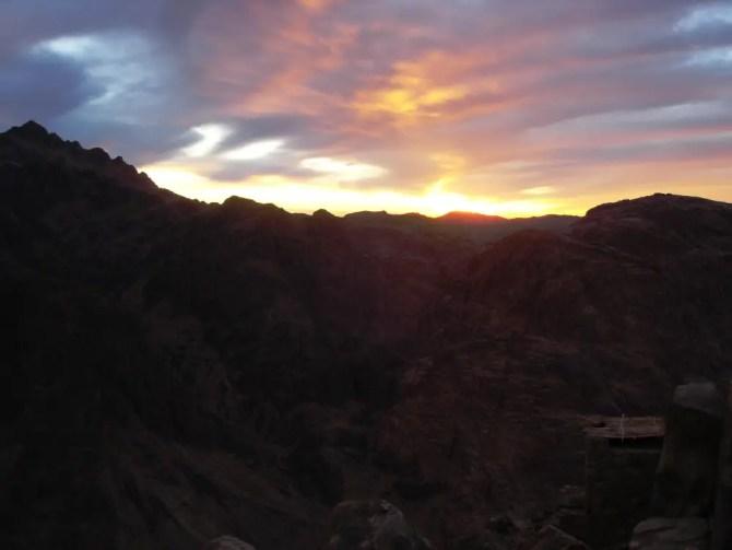 Sunset over Mt Sinai