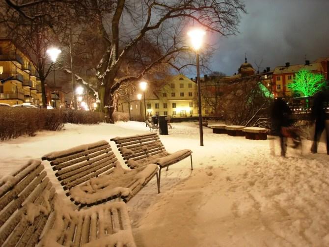 Uppsala at night