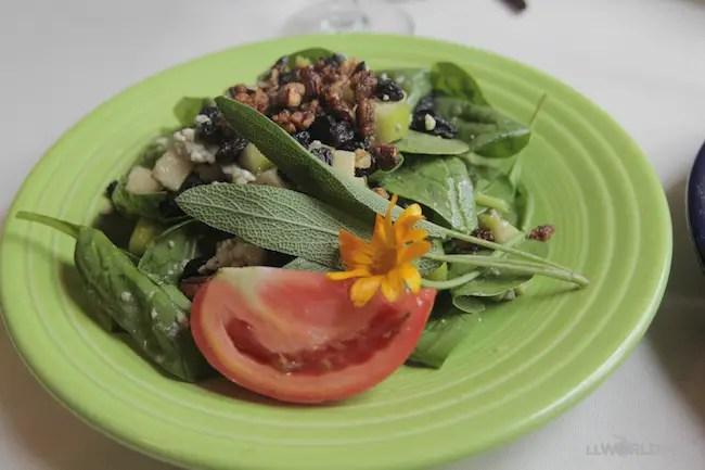 Spinach Salad - Charlotte Lane Cafe - Shelburne, Nova Scotia