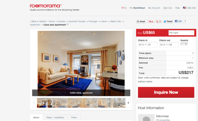 Roomorama Website