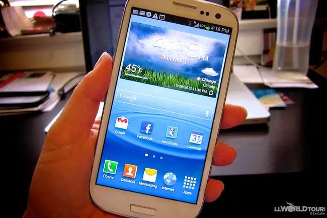 Samsung Galaxy SIII phone