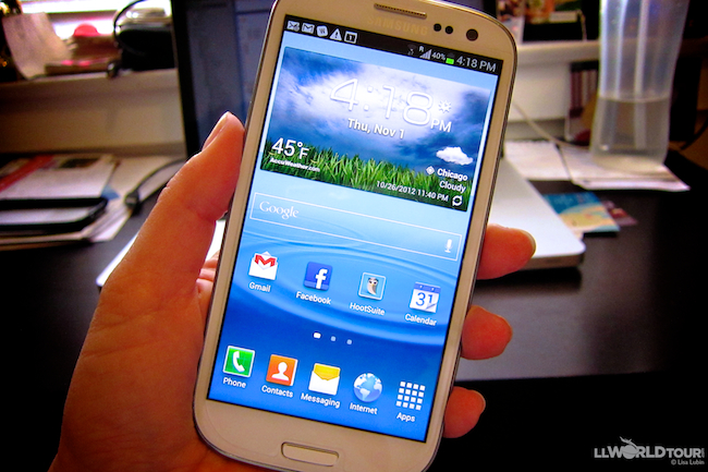 Samsung Galaxy SIII phone