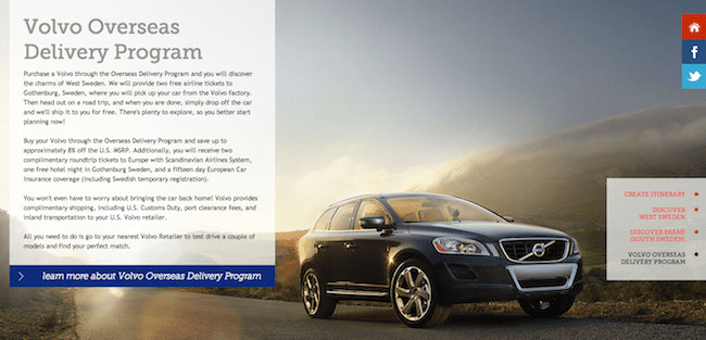 Buy a Volvo: Free Trip to Sweden!