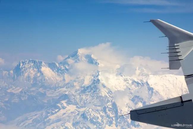Flying to Bhutan