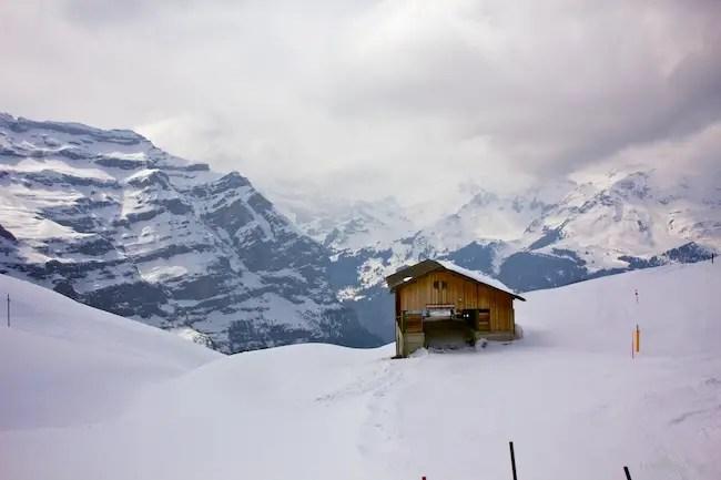 Train toward Grindelwald
