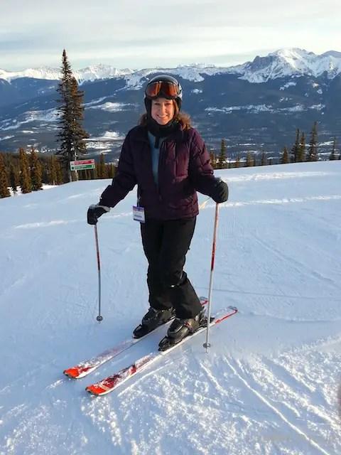 Lisa Lubin skis