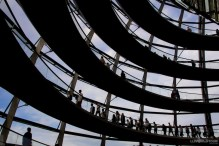 Inside the Reichstag glass dome