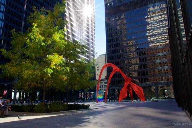 Chicago's Federal Plaza & Calder Sculpture