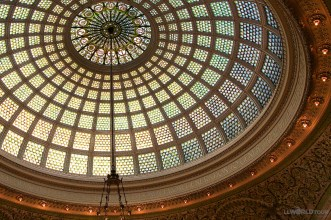 The Tiffany Dome at the Cultural Center
