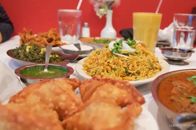 Dishes at Hama's Kitchen