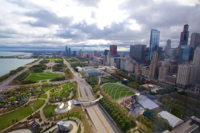Chicago Views over Millennium Park
