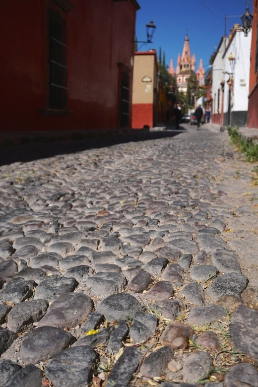 Cobblestone Street san miguel de allende