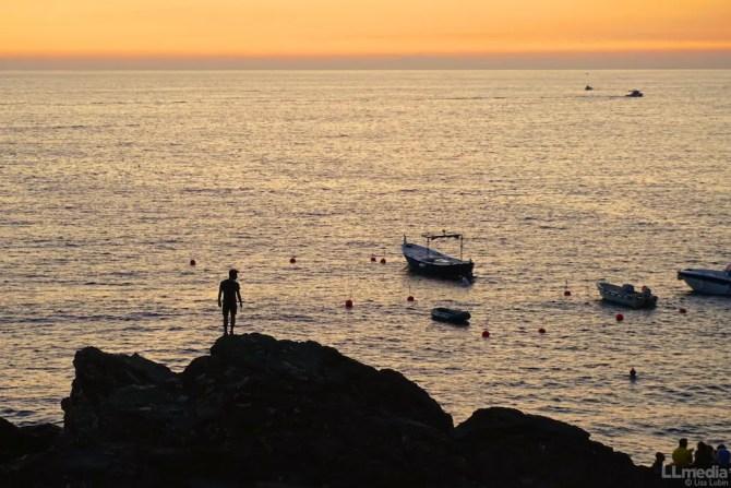 Sunset over Manarola in Cinque Terre