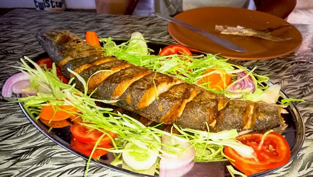 Grilled fish in Goa