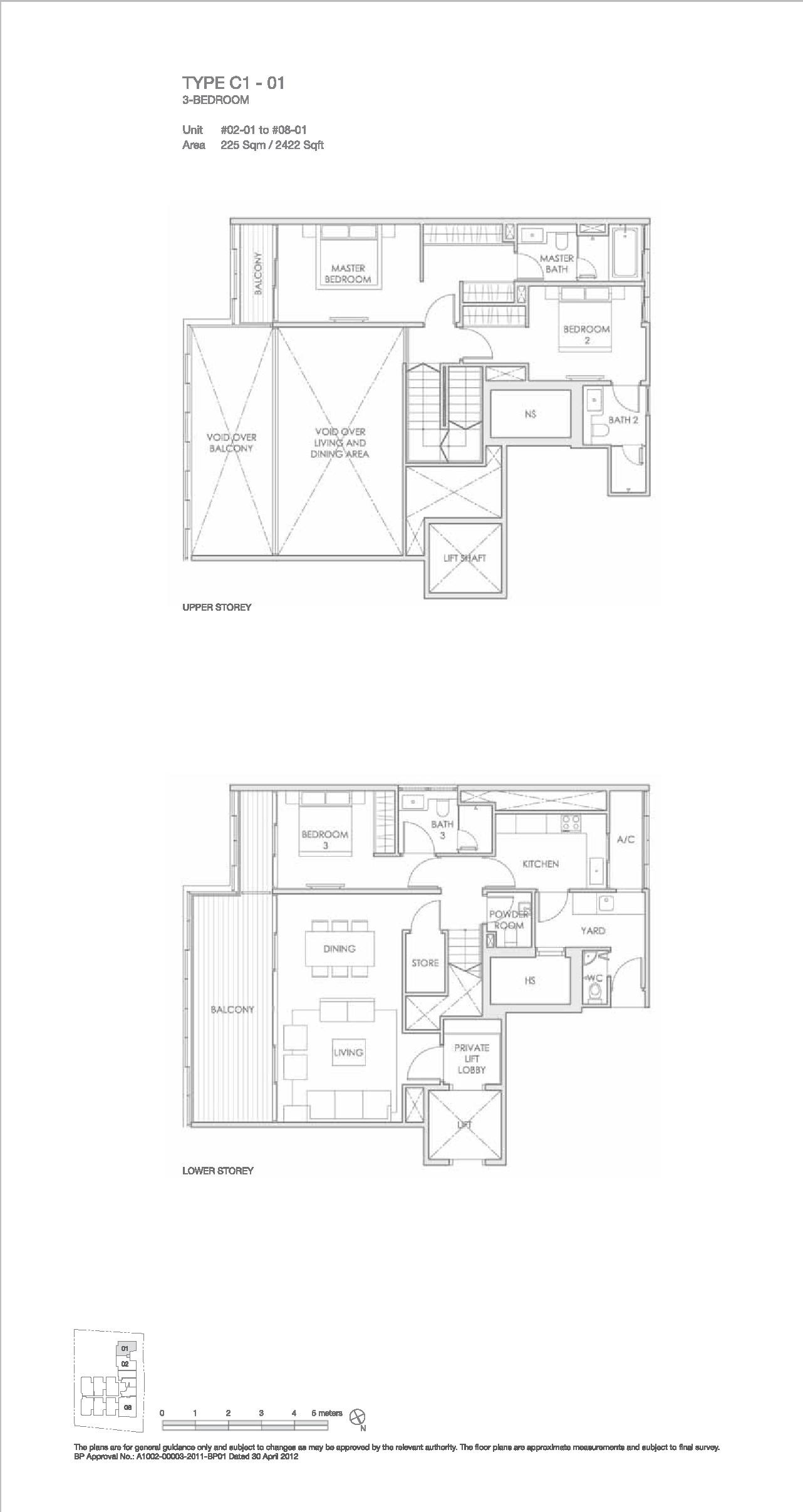 Llyod 65 3 Bedroom Floor Plan Type C1-01