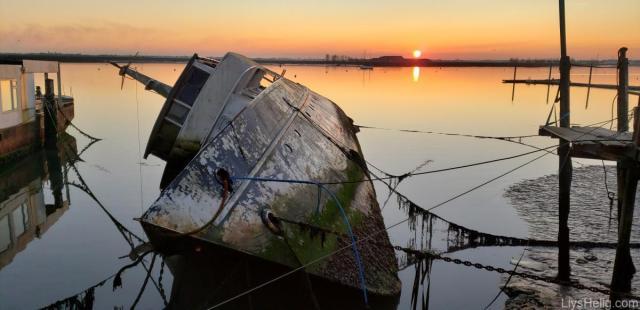 Llys Helig resting in a Burnham Sunset