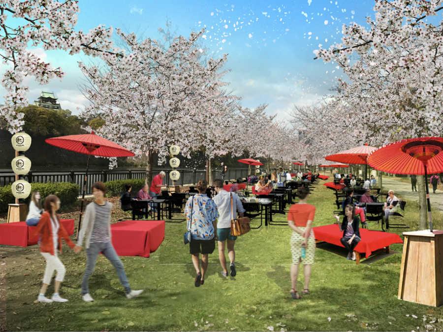 「大阪城公園の2019お花見BBQが有料に」の画像検索結果