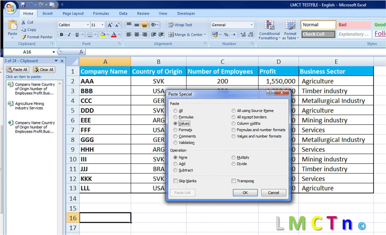 01 Copy Paste Paste Special And Clipboard In Excel