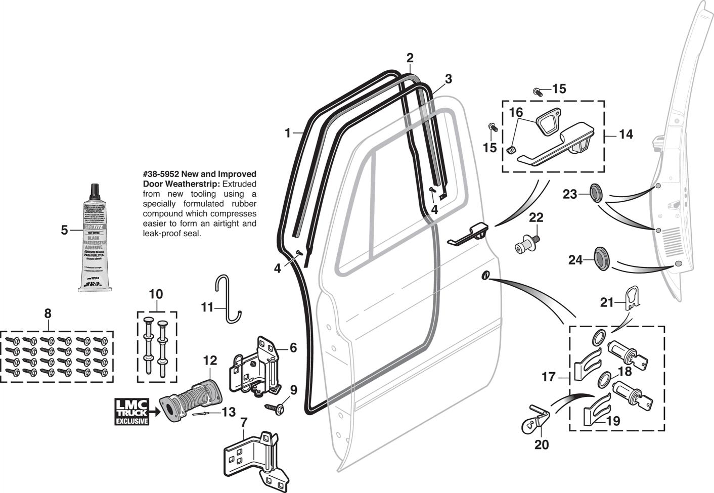 91 Front Door Components