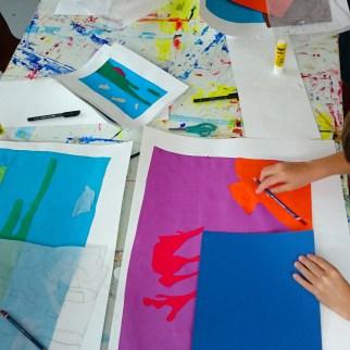 Décalquage pour définir formes colorées