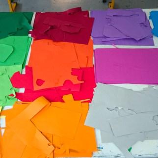 Papiers colorés ...