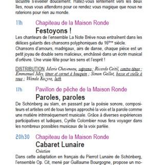 Dépliant / Les nuits d'été 2013