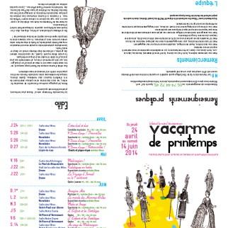 Dépliant / Vacarme de printemps 2014