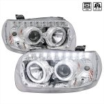 Spec D Tuning 2lhp Ecap05 Rs Ford Escape Projector Headlight Chrome With Amber Reflector 2005 2007