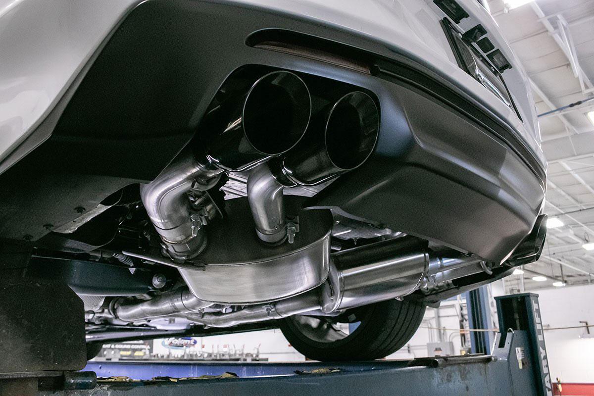 corsa performance 14789blk corsa variable sound camaro ss zl1 axle back npp exhaust quad black tips 2016 2020