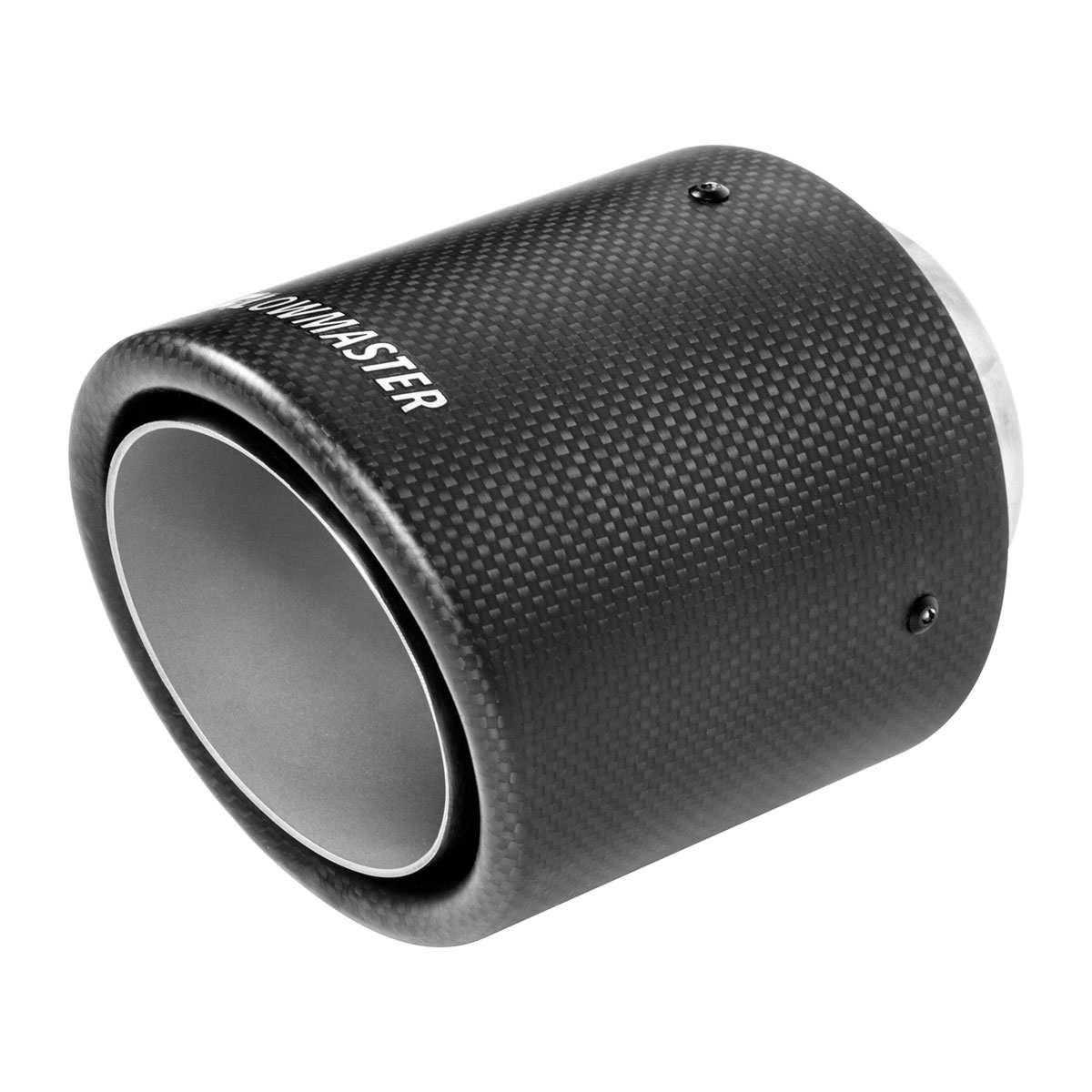 flowmaster 15400 exhaust tip 4 in rolled angle carbon fiber fits 2 5 in tubing weld on