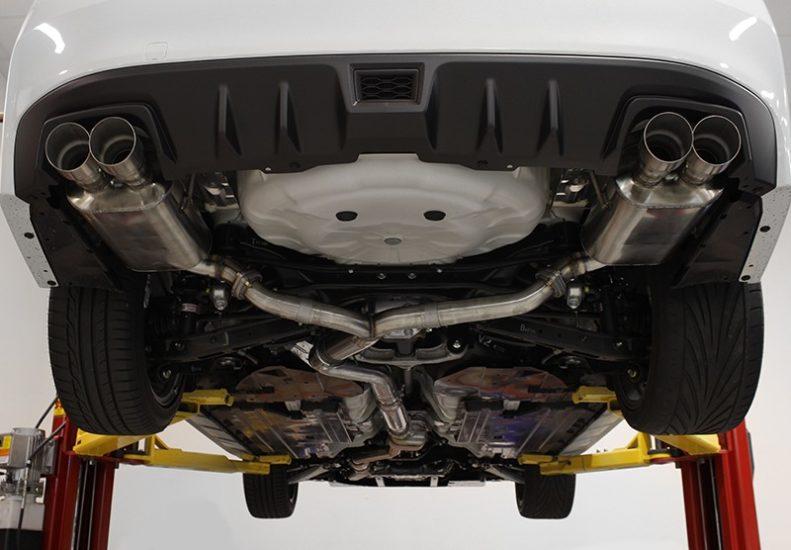 perrin performance psp ext 347br catback exhaust for wrx sti sedans 2011 2019