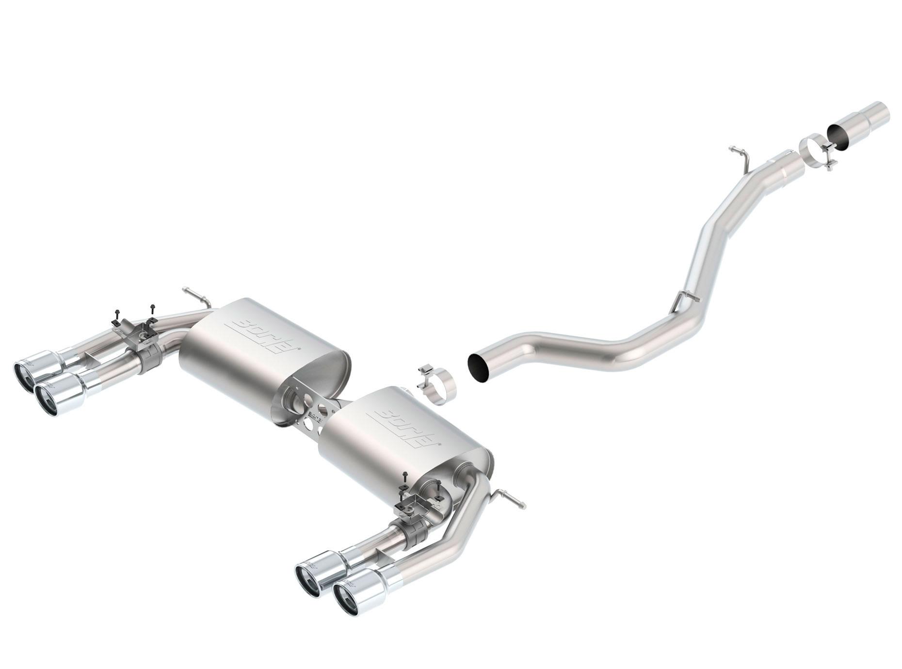 borla 140631 audi s3 s type cat back exhaust system l4 2 0 2015 2019